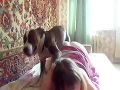 Team Russia Blonde milf - Sexo con Animales