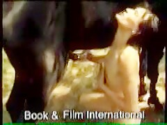 BFI - Horse pissing on skinny girl - clip
